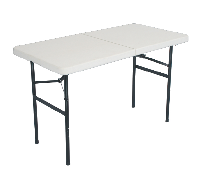 Small Folding Table : Details about NEW SMALL FOLDING TABLE - WHITE - 4 feet -Poly Resin