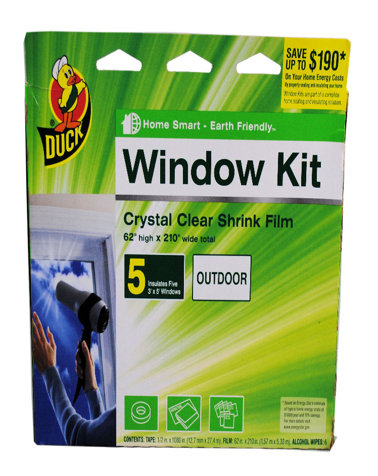 Duck brand 5 window insulation kit clear shrink film ebay for Window insulation kit