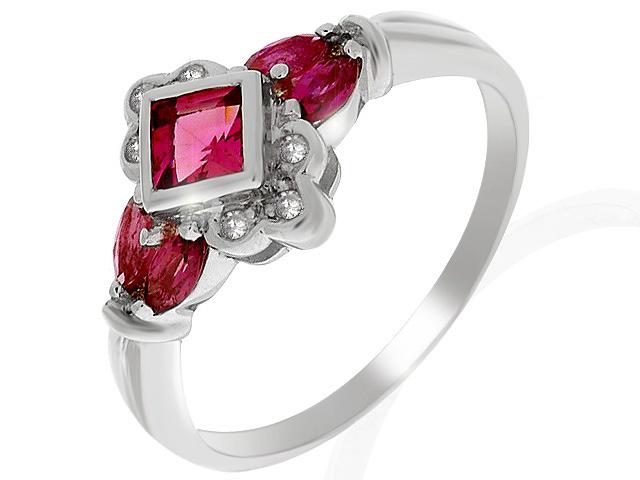 9ct White Gold Pink Tourmaline and Diamond Ring