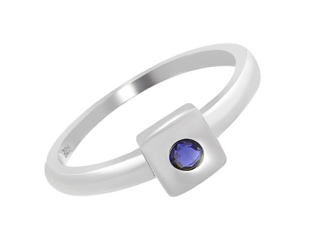 Silver Classic Iolite Ring