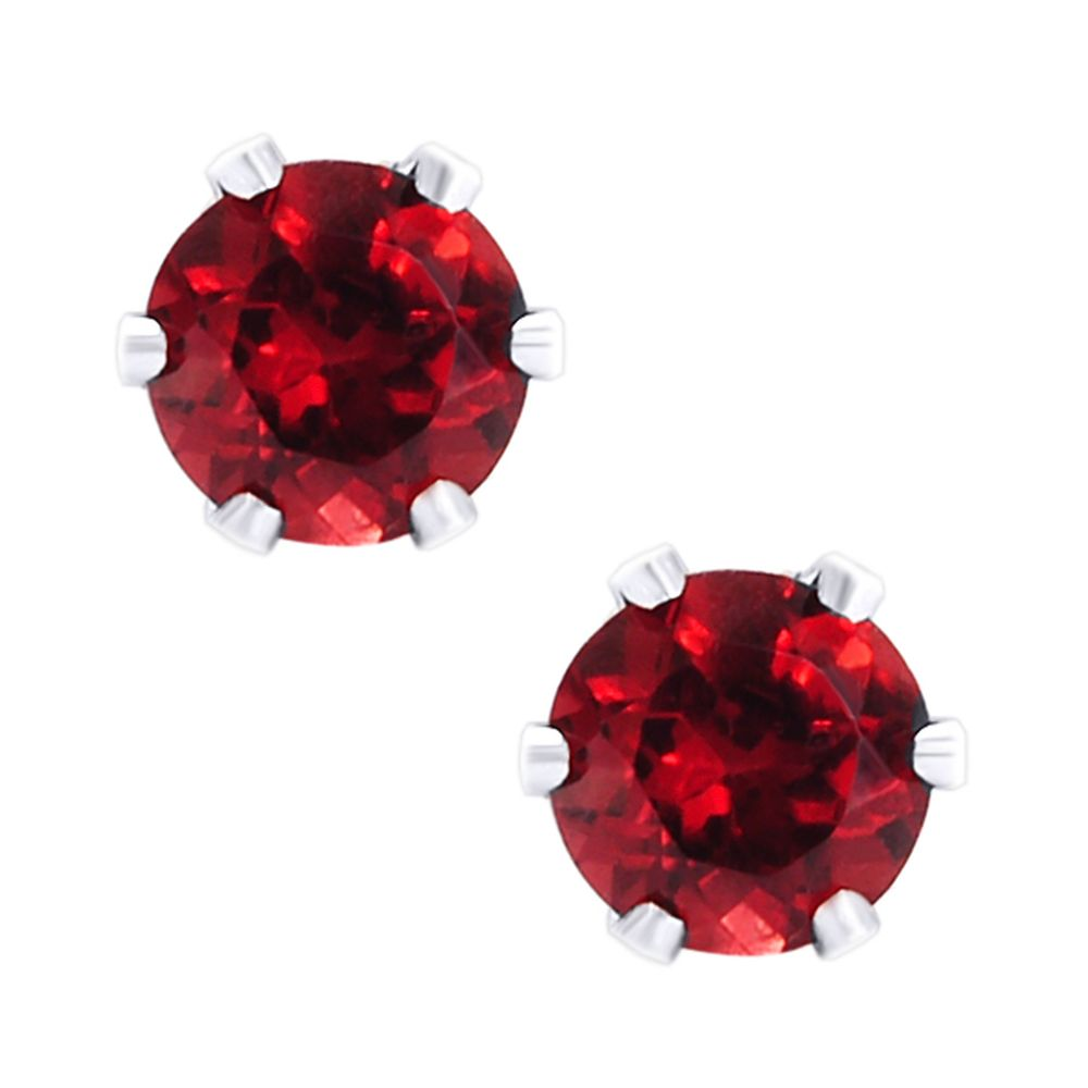 Sterling Silver 1.8ct Garnet Earrnings