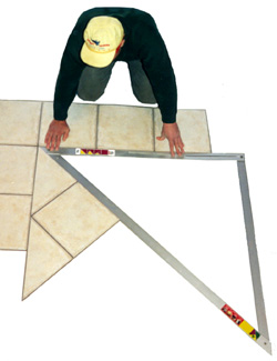 A-Square 4'X4' 45 Degree Layout Tool (Tile and Stone Tools , More Tile and Stone Tools , Layout Marking Tools)