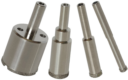 Wet 4pcs Porcelain drill bit, 1/4