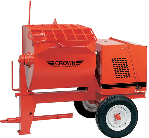 Crown 8hp Briggs Gas 10S Towable Mortar Mixer