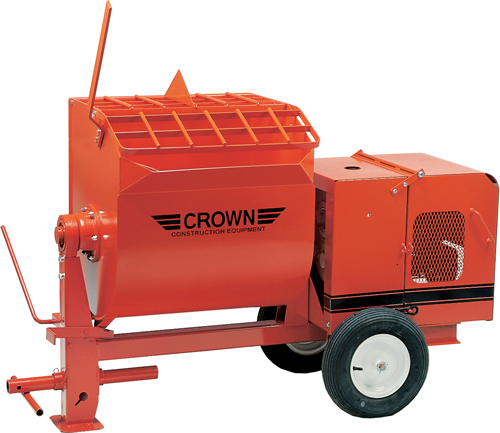 Crown 4S 5-1/2hp Briggs Gas Mortar Mixer (Concrete Masonry Tools , Concrete Mortar Mixers , Portable Masonry Mixer)