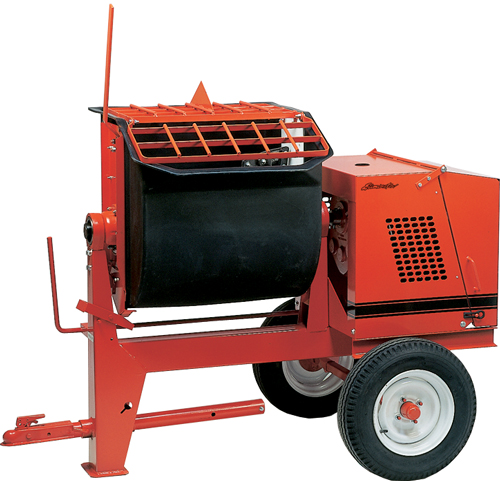 Crown 1-1/2hp Electric 6PR Towable Mortar Mixer Poly