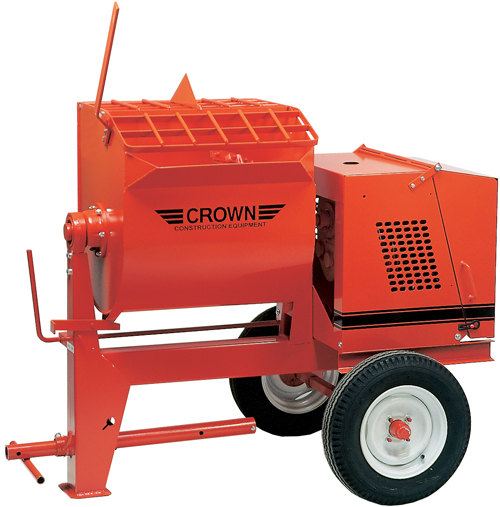Crown 1-1/2hp Electric 6S Mortar Mixer (Concrete Masonry Tools , Concrete Mortar Mixers , Towable Mortar Mixers)