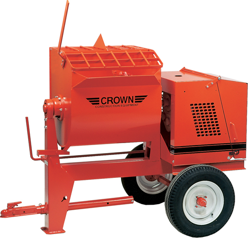 Crown 9hp Honda Gas Engine 6SR Towable Mortar Mixer (Concrete Masonry Tools , Concrete Mortar Mixers , Towable Mortar Mixers)