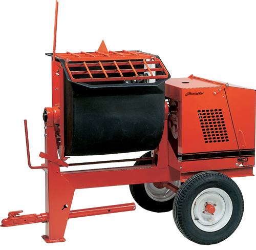 Crown 9hp Honda Gas 8P Towable Mortar Mixer Poly (Concrete Masonry Tools , Concrete Mortar Mixers , Towable Mortar Mixers)