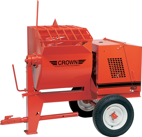 Crown 5-1/2hp Honda Gas 8S Towable Mortar Mixer