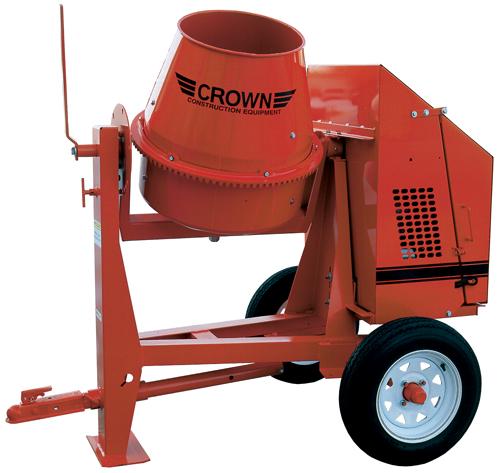 Crown 5-1/2hp Honda Gas C3 Concrete Mixer (Concrete Masonry Tools , Concrete Mortar Mixers , Towable Concrete Mixers)
