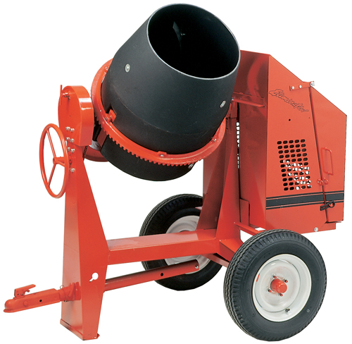 Crown 5-1/2hp Honda Gas C6Poly Concrete Mixer (Concrete Masonry Tools , Concrete Mortar Mixers , Towable Concrete Mixers)