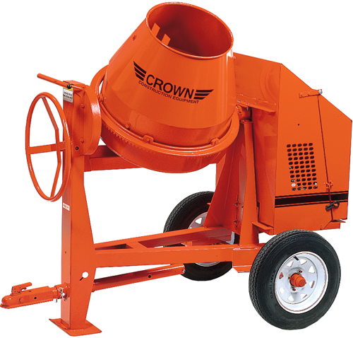 Crown 6hp Robin Gas C6 Concrete Mixer (Concrete Masonry Tools , Concrete Mortar Mixers , Towable Concrete Mixers)