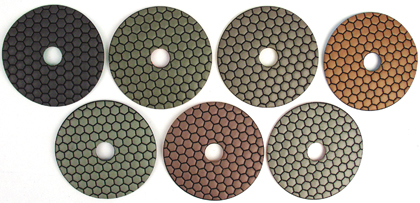 6000 Grit Magnum-D Wet/Dry Diamond Pads (Tile and Stone Tools , Polishing Profiling , Polishing Pads)