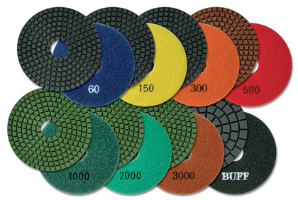 White Buff MK Premium Diamond Pads (Tile and Stone Tools , Polishing Profiling , Polishing Pads)