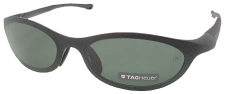 Tag Heuer 1002 Black Precision Polarized Sunglasses w/ Case & Cleaning Cloth