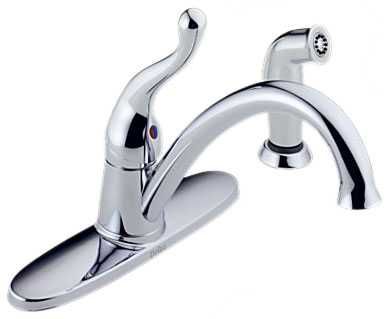 Delta 419-WF Talbott Single Handle Kitchen Faucet with Sidespray, Polished Chrome