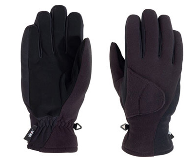 180s Exhale Black Fleece Suede Winter Ski Snowboarding Gloves Mens Lrg