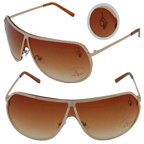 Baby Phat 1028 Gold Aviator Chic Urban Sunglasses Shades Authentic
