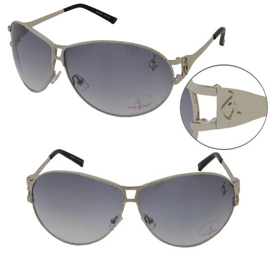 Baby Phat 1029 Platinum Aviator Chic Urban Sunglasses Shades Authentic