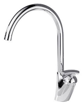 Delta 182 Urban Verona Single Hole Kitchen Sink Faucet, Polished Chrome