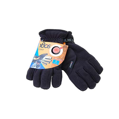 180s Exhale Black Fleece Heating Winter Snow Ski Gloves Kids Small 6-8