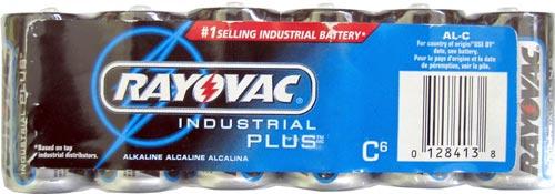 24 Rayovac Industrial Plus C Batteries (4) 6-Packs Exp 2012