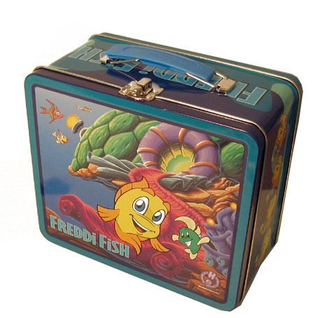 Freddi Fish Vintage Style Metal Tin Keepsake Lunchbox