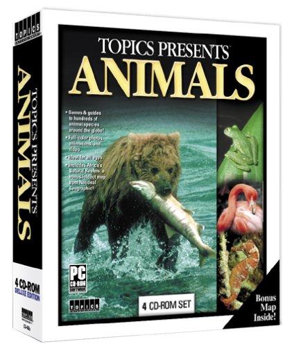 Topics Entertainment Presents Animals CD-ROM 4 Disc Set WinXP PC