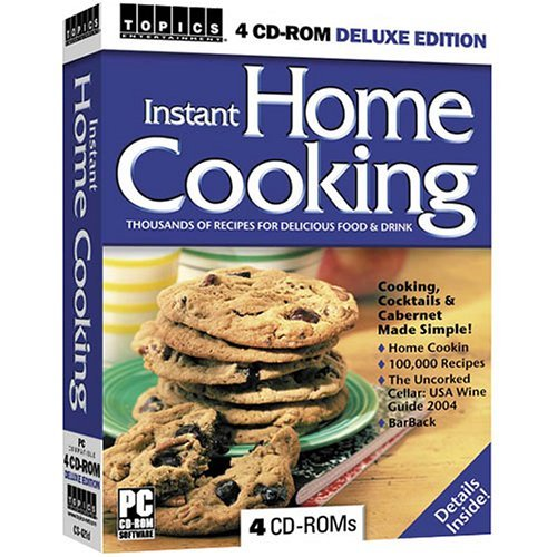 Topics Instant Home Cooking 4 CD-ROM PC Software