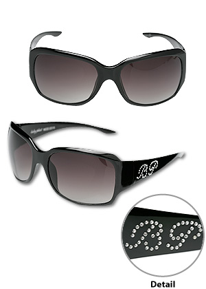 Baby Phat 2014 Black Chic Urban Sunglasses Shades w/ Rhinestones Authentic