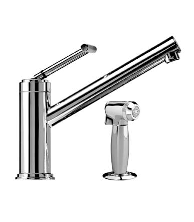 Jado 825/860/100 New Haven Kitchen Faucet w/ Side Spray, Polished Chrome
