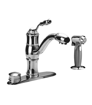 Jado 853/860/355 Victorian Filter Kitchen Sink Faucet w/ Spray, Ultra Steel