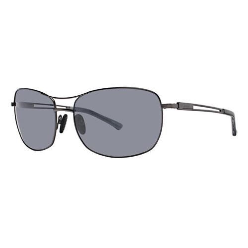 Columbia Butte Polarized Sunglasses Shades w/ Pouch, Gunmetal Black