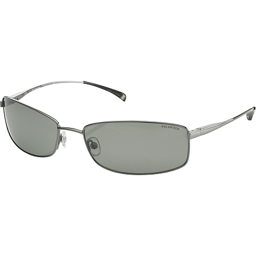 Columbia Solano Polarized Outdoor Metal Sunglasses Shades w/ Pouch, Gunmetal Grey
