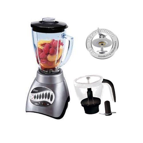 Oster 6878 16-Speed Brushed Nickel Blender and Food Processor