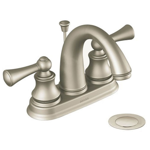 Moen 84236BN Cordin Two Handle Bathroom Sink Faucet, Brushed Nickel