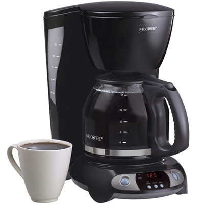 Mr. Coffee TFX23 12-Cup Programmable Black Coffee Maker