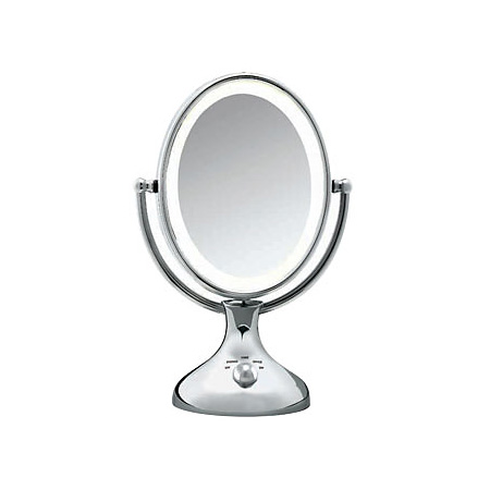Conair BE18LCX Lighted 5X Chrome Double Sided Makeup Mirror
