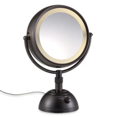 Lighted Vanity Mirror Oil Rubbed Bronze : Conair BE67BRD Lighted 8X Makeup Vanity Mirror Bronze eBay