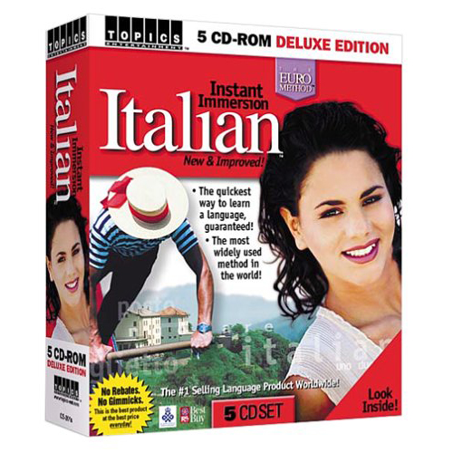 Learn Italian Instant Immersion Italian 5 CD-ROM Deluxe Edition