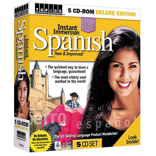 Learn Spanish Topics Instant Immersion Spanish 5 CD-ROM Software Set