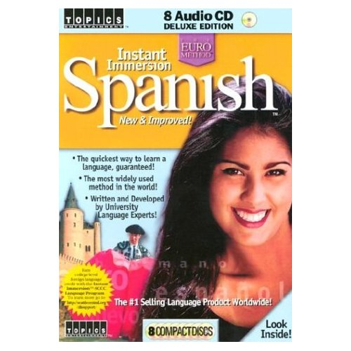 Learn Spanish Instant Immersion Spanish New & Improved 8 Audio CD Set