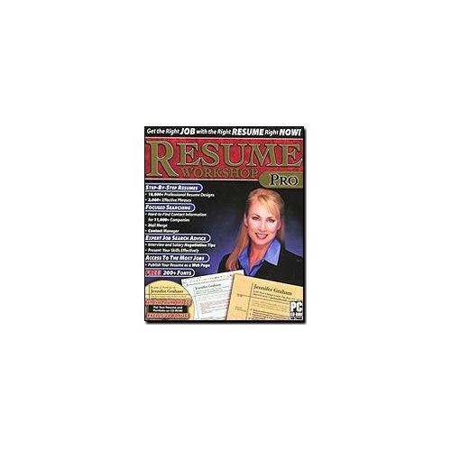 ValuSoft Resume Workshop Pro Job Search Cover Letter PC