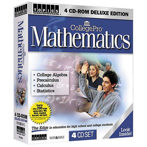 TOPICS Entertainment College Pro Mathematics 4 CD-ROM Suite for PC/Mac