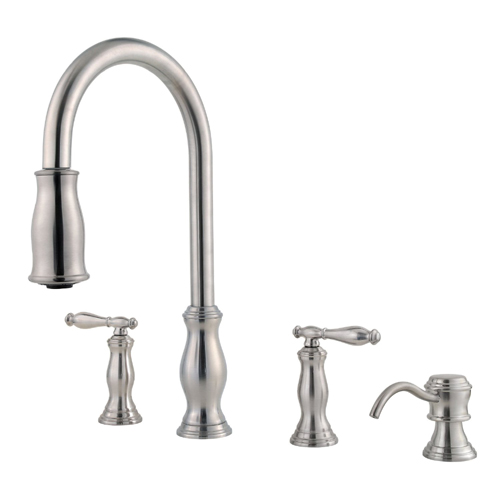 Price Pfister F-531-4TMS Kitchen Faucet Stainless Steel