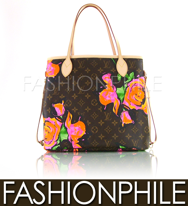 Louis Vuitton Stephen Sprouse Graffiti Rose Neverfull