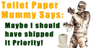 BlockBusterCostumes Toilet Paper Mummy Shipping