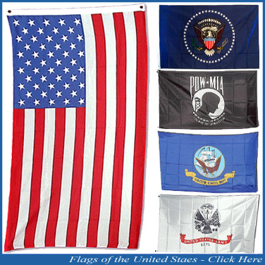 National Costume Flags - Flags of the United States of America Banner