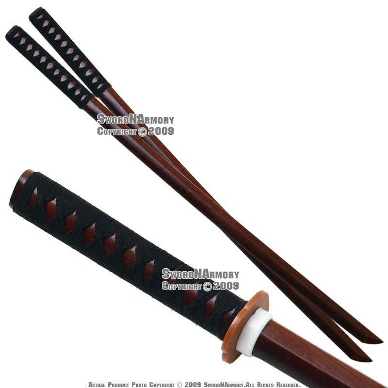2 Pcs Set Wooden Kendo Practice Bokken Katana Sword | eBay